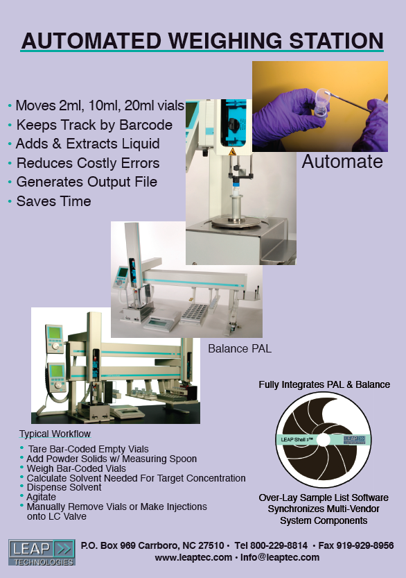 LEAP CTC Robotic Weighing Station