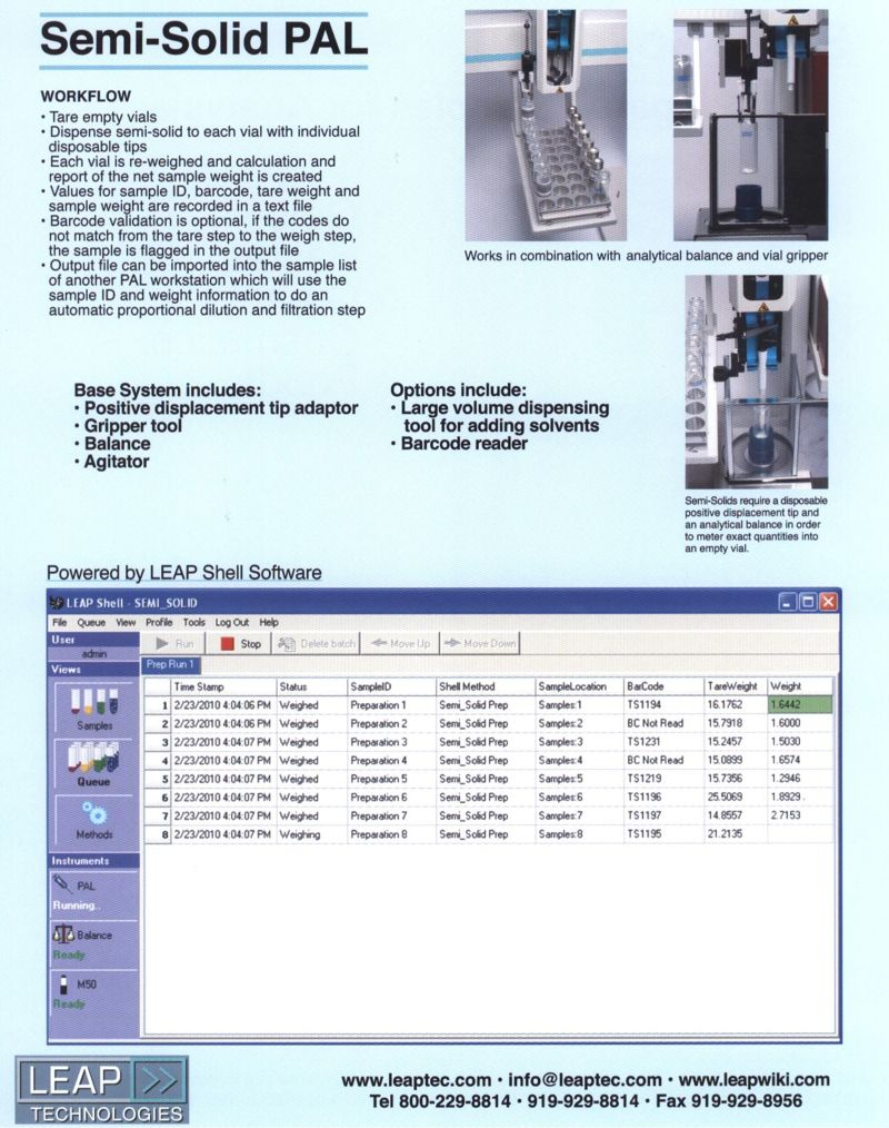 LEAP Semi Solid WorkStation Brochure page 1