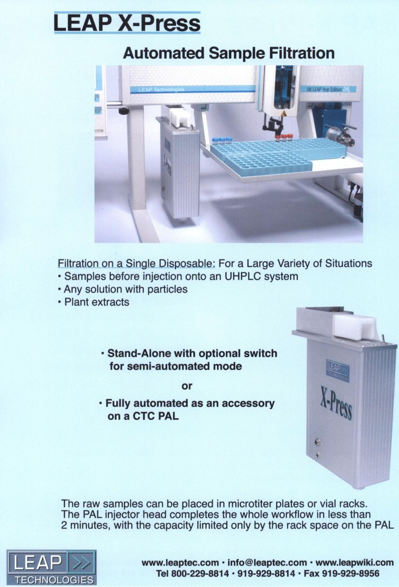 LEAP X-Press WorkStation Brochure page 1